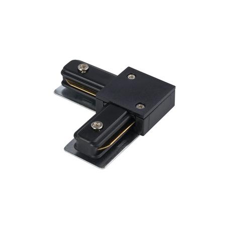 L-образный левый соединитель для шинопровода Nowodvorski Profile 9455, черный, металл, пластик
