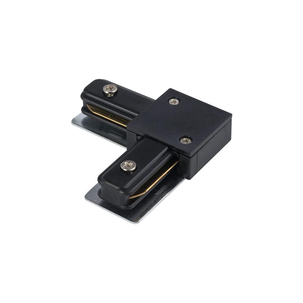 L-образный левый соединитель питания для треков Nowodvorski Profile 9455, черный, металл с пластиком, пластик с металлом - фото 1