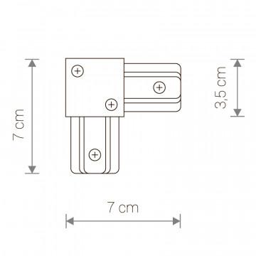 Схема с размерами Nowodvorski 9455
