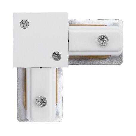L-образный левый соединитель для шинопровода Nowodvorski Profile 9456, белый, металл, пластик