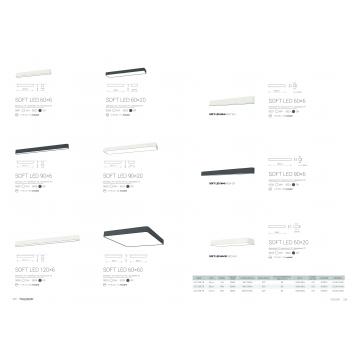Настенный светильник Nowodvorski Soft LED 9525, 1xG13T8x11W, белый, серый, металл, пластик - миниатюра 2