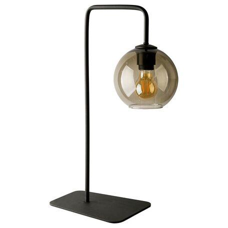 Настольная лампа Nowodvorski Monaco 9308, 1xE27x60W, черный, дымчатый, металл, стекло