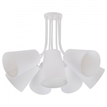 Подвесная люстра Nowodvorski Flex Shade 9275, 7xE27x60W, белый, металл, текстиль