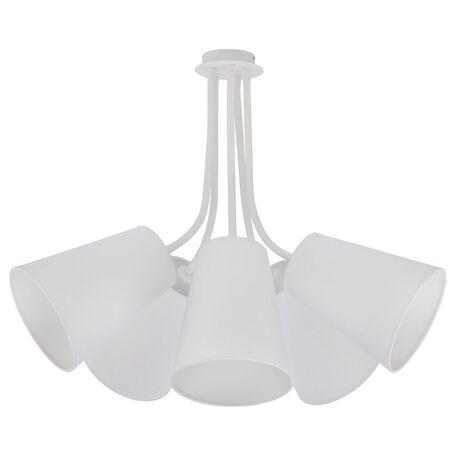 Подвесная люстра Nowodvorski Flex Shade 9277, 5xE27x60W, белый, металл, текстиль
