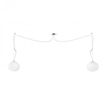 Подвесной светильник Nowodvorski Nuage 9272, 2xE27x60W, хром, белый, металл, стекло