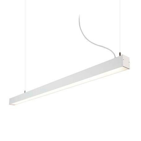 Подвесной светодиодный светильник Nowodvorski Office LED 9355, LED 43W, белый, металл, пластик