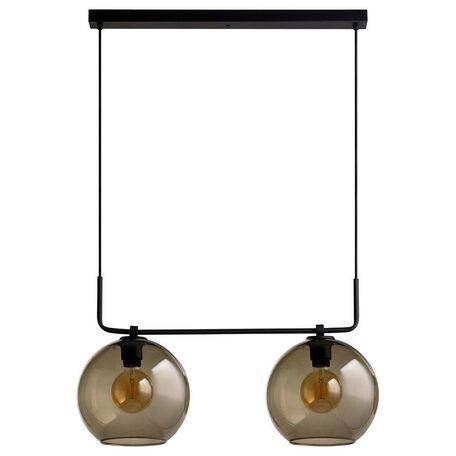 Подвесной светильник Nowodvorski Monaco 9363, 2xE27x60W, черный, дымчатый, металл, стекло