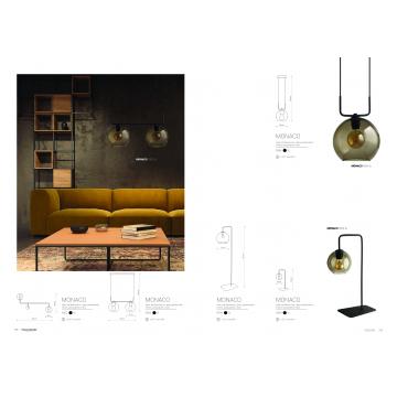 Подвесной светильник Nowodvorski Monaco 9363, 2xE27x60W, черный, дымчатый, металл, стекло - миниатюра 2