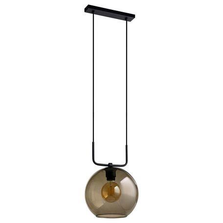 Подвесной светильник Nowodvorski Monaco 9364, 1xE27x60W, черный, дымчатый, металл, стекло