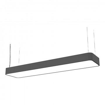 Подвесной светильник Nowodvorski Soft LED 9542, 2xG13T8x16W, серый, белый, металл, пластик