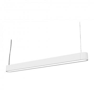 Подвесной светильник Nowodvorski Soft LED 9545, 1xG13T8x16W, белый, металл, пластик