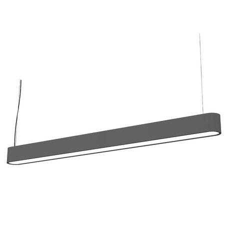 Подвесной светильник Nowodvorski Soft LED 9546, 1xG13T8x16W, серый, белый, металл, пластик
