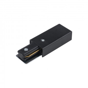 Боковой подвод питания для трековой системы Nowodvorski Profile 9463, черный, металл с пластиком, пластик с металлом