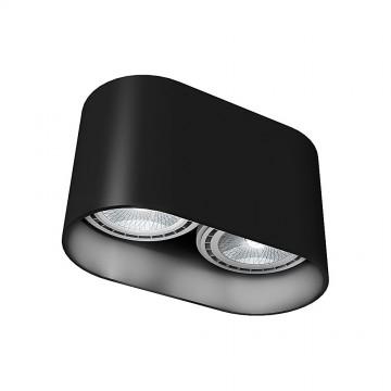 Потолочный светильник Nowodvorski Oval 9240, 2xGU10x35W, черный, металл