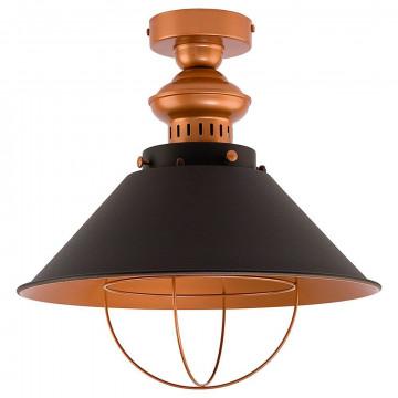 Потолочный светильник Nowodvorski Garret 9247, 1xE27x60W, медь, черный, металл