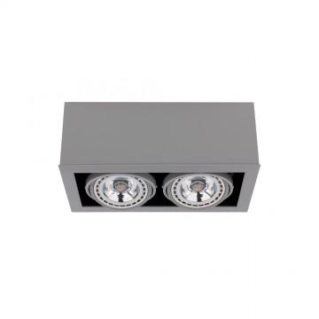 Потолочный светильник Nowodvorski Box 9471, 2xGU10x75W, серый, дерево, металл