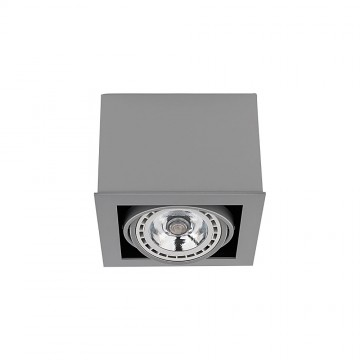 Потолочный светильник Nowodvorski Box 9496, 1xGU10x75W, серый, дерево, металл