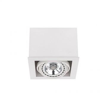 Потолочный светильник Nowodvorski Box 9497, 1xGU10x75W, белый, дерево, металл
