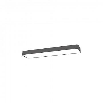 Потолочный светильник Nowodvorski Soft LED 9532, 2xG13T8x11W, белый, серый, металл, пластик