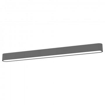 Потолочный светильник Nowodvorski Soft LED 9535, 1xG13T8x22W, белый, серый, металл, пластик