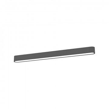 Потолочный светильник Nowodvorski Soft LED 9536, 1xG13T8x16W, белый, серый, металл, пластик
