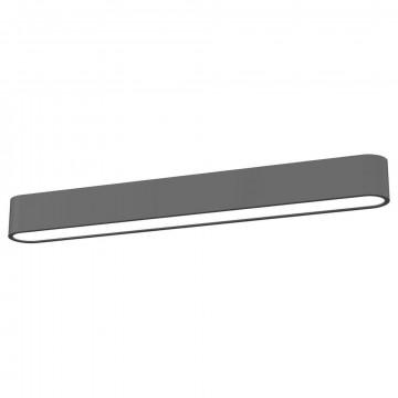 Потолочный светильник Nowodvorski Soft LED 9537, 1xG13T8x11W, белый, серый, металл, пластик