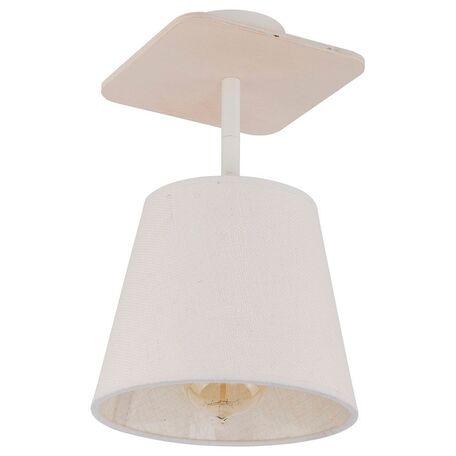 Потолочный светильник Nowodvorski Awinion 9282, 1xE27x60W, коричневый, белый, дерево, текстиль