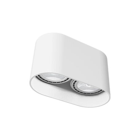 Потолочный светильник Nowodvorski Oval 9241, 2xGU10x35W, белый, металл