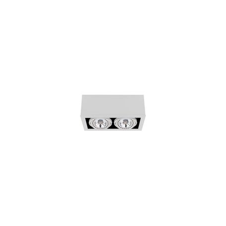 Потолочный светильник Nowodvorski Box 9472, 2xGU10x75W, белый, дерево, металл - миниатюра 1