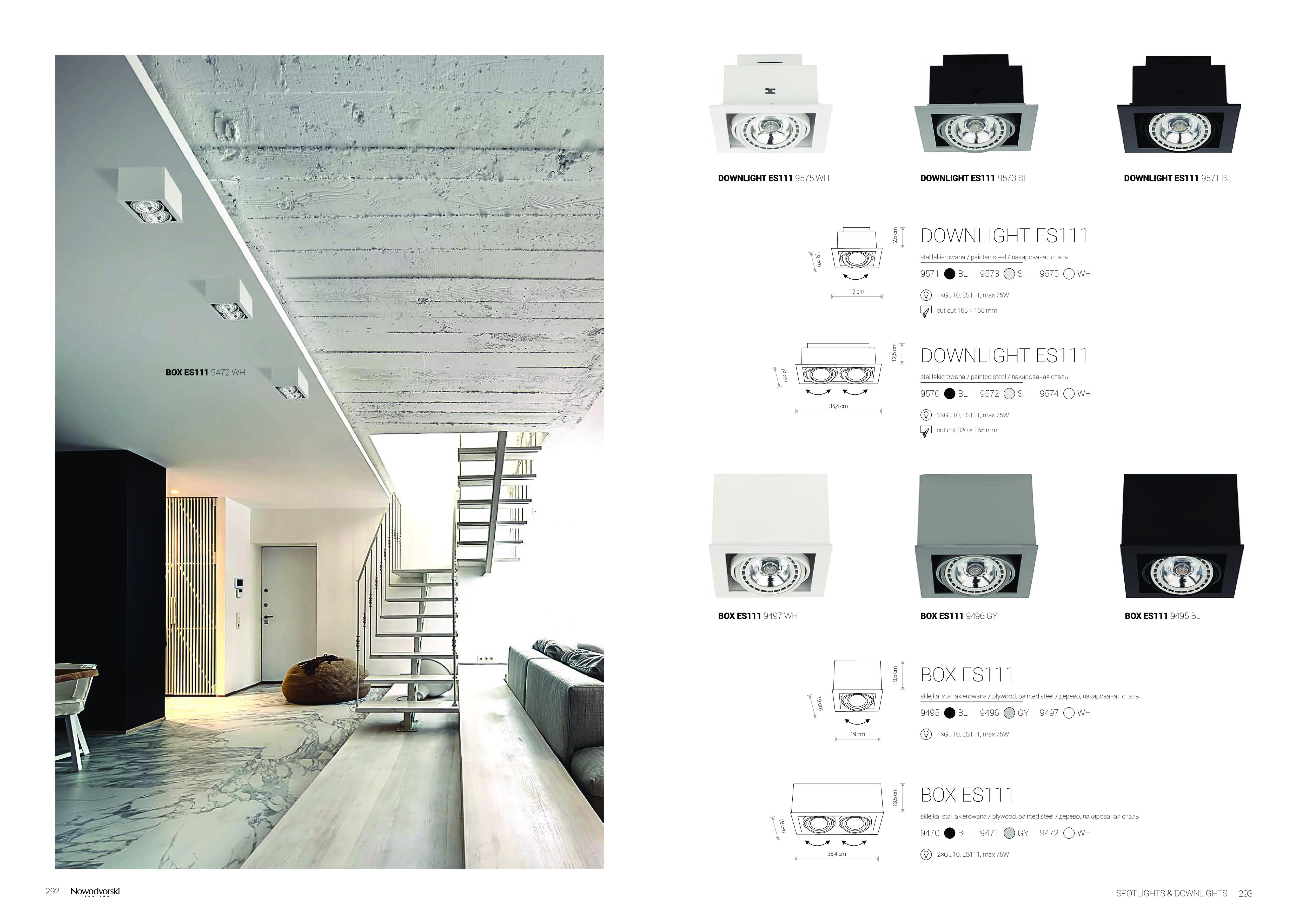 Потолочный светильник Nowodvorski Box 9472, 2xGU10x75W, белый, дерево, металл - фото 2
