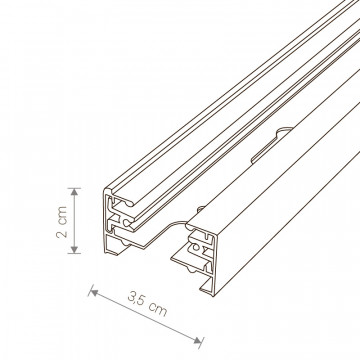 Схема с размерами Nowodvorski 9452