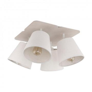 Потолочная люстра с регулировкой направления света Nowodvorski Awinion 9280, 4xE27x60W, коричневый, белый, дерево, текстиль