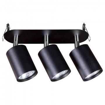 Встраиваемый светильник с регулировкой направления света Nowodvorski Eye Fit 9397, 3xGU10x35W, черный, металл