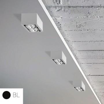 Потолочный светильник Nowodvorski Box 9470, 2xGU10x75W, черный, металл, дерево