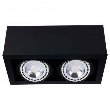 Потолочный светильник Nowodvorski Box 9470, 2xGU10x75W, черный, дерево, металл