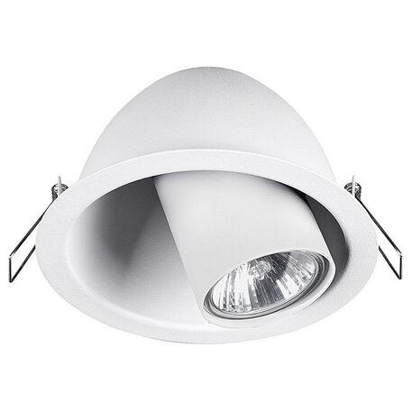 Встраиваемый светильник с регулировкой направления света Nowodvorski Dot 9378, 1xGU10x35W, белый, металл