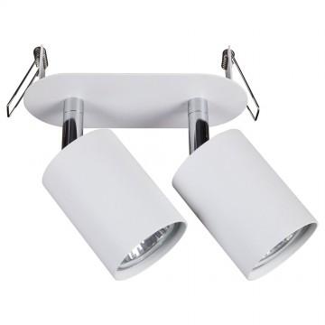 Встраиваемый светильник с регулировкой направления света Nowodvorski Eye Fit 9395, 2xGU10x35W, белый, металл - миниатюра 1