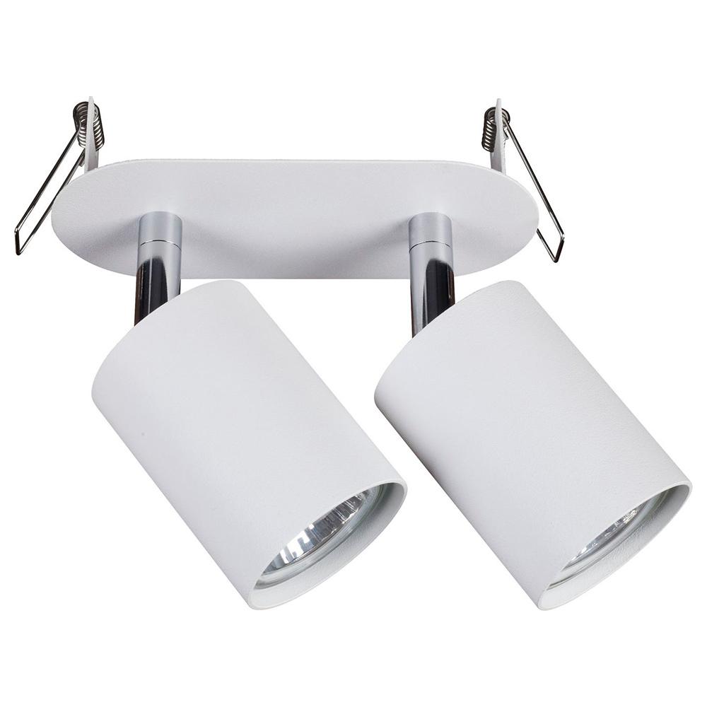 Встраиваемый светильник с регулировкой направления света Nowodvorski Eye Fit 9395, 2xGU10x35W, белый, металл - фото 1