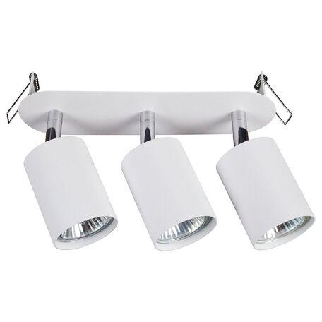Встраиваемый светильник с регулировкой направления света Nowodvorski Eye Fit 9394, 3xGU10x35W, белый, металл