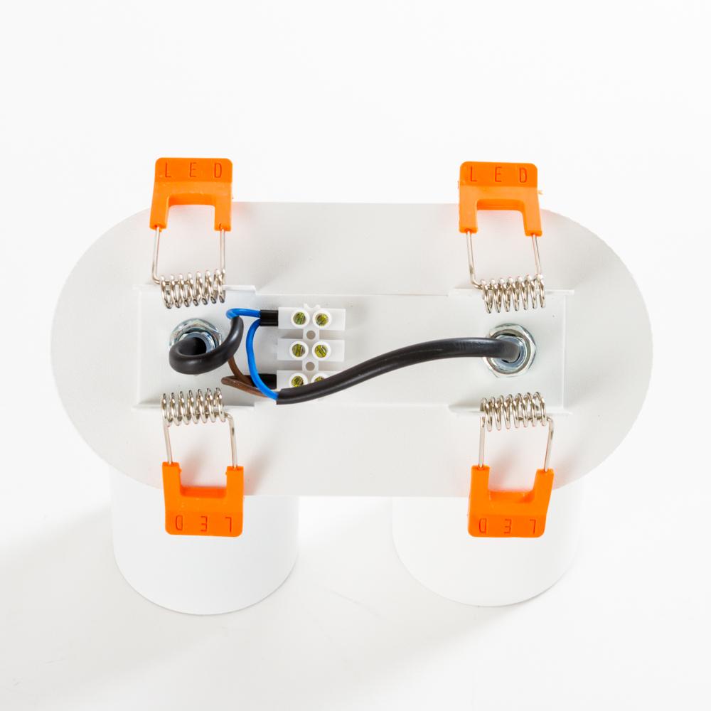 Встраиваемый светильник Nowodvorski Eye Fit 9395, 2xGU10x35W, белый, металл - фото 2