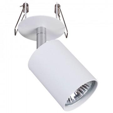 Встраиваемый светильник с регулировкой направления света Nowodvorski Eye Fit 9396, 1xGU10x35W, белый, металл