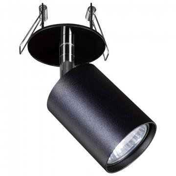 Встраиваемый светильник с регулировкой направления света Nowodvorski Eye Fit 9400, 1xGU10x35W, черный, металл