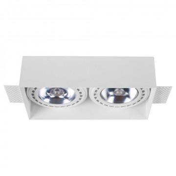 Встраиваемый светильник Nowodvorski Mod Plus 9407, 2xGU10x75W, белый, металл
