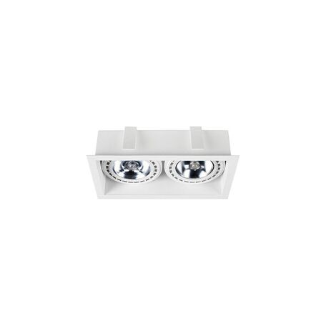 Встраиваемый светильник Nowodvorski Mod 9412, 2xGU10x75W, белый, металл
