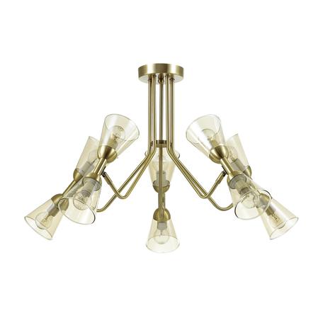 Потолочная люстра с регулировкой направления света Lumion Ginger 4428/10C, 10xE14x40W, бронза, прозрачный, металл, стекло