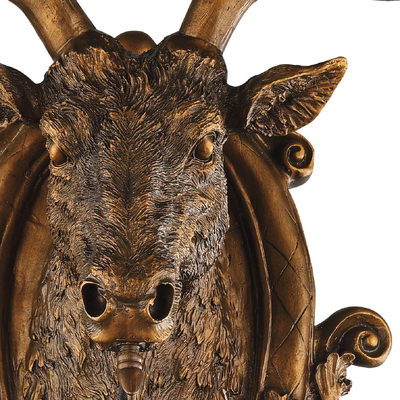 Настенный фонарь Favourite Hunt 2078-1W, IP44, 1xE27x60W, коричневый, прозрачный, гипс, металл, ковка, металл со стеклом - фото 3