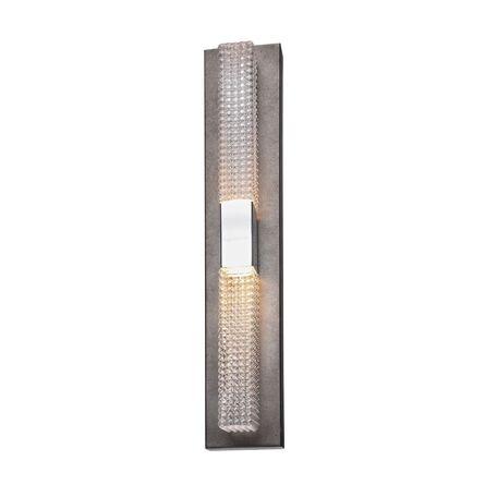 Настенный светодиодный светильник Favourite Groove 2082-2W, LED 9,6W, черненое серебро, белый, металл, стекло