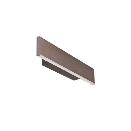 Настенный светодиодный светильник Favourite Officium 2118-1W, LED 8,1W 3000K, коричневый, металл, пластик