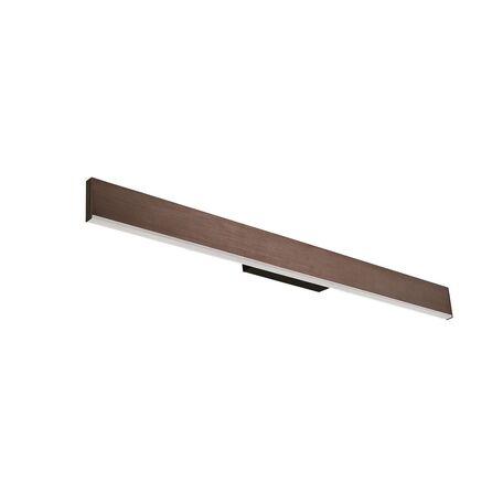 Настенный светодиодный светильник Favourite Officium 2118-3W, LED 24,3W 3000K, коричневый, металл, пластик