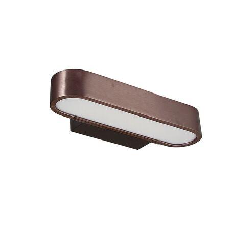 Настенный светодиодный светильник Favourite Officium 2120-1W, LED 6W 3000K, коричневый, металл, пластик